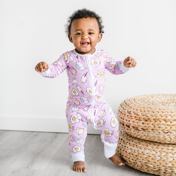 Zippy - Pink Breakfast Buddies Baby & Toddler Bamboo Viscose Zippy