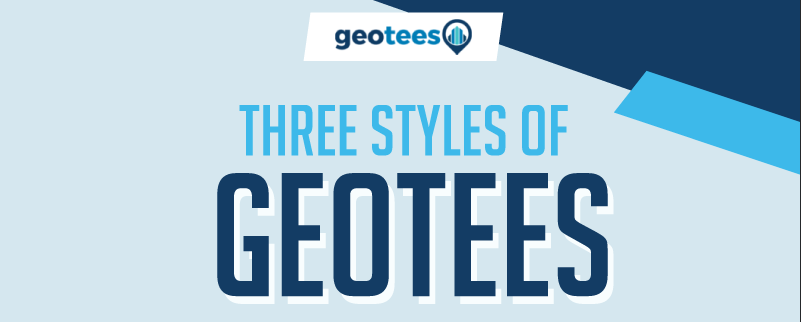 Three Styles of geotees T-Shirts  - Infographic