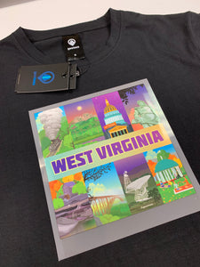 West Virginia T-Shirt Illustration on Front
