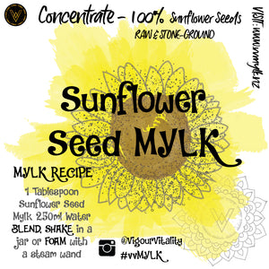 Sunflower Seed Mylk Concentrate - 250ml makes 4L+