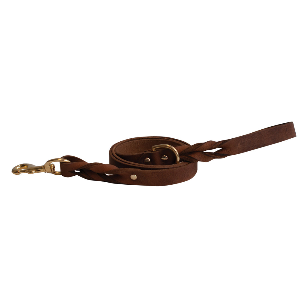 Bristol Twisted Leather Leash