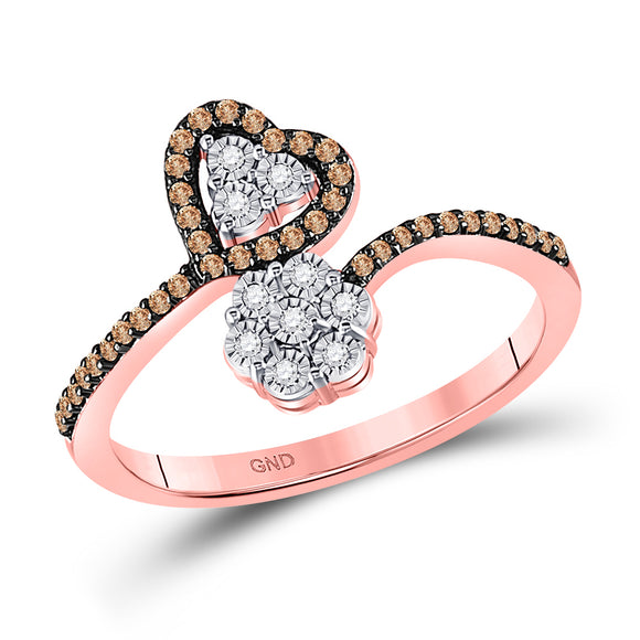 1-5ctw-dia Heart And Flower Ring