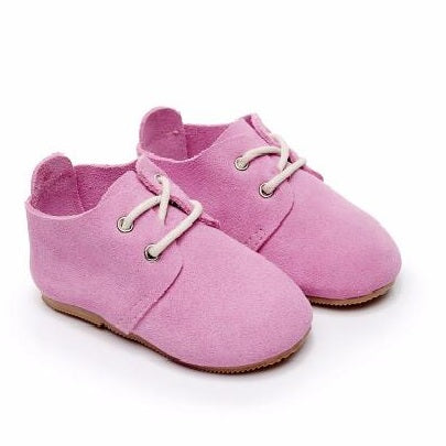 Beautiful Little Suede Baby Shoes