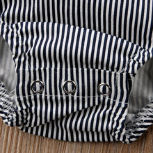 Load image into Gallery viewer, Chic Striped Baby Bodysuit