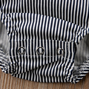 Chic Striped Baby Bodysuit