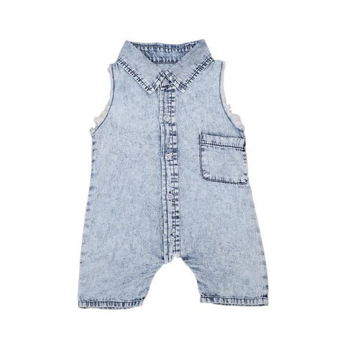 Cute Denim Baby Romper