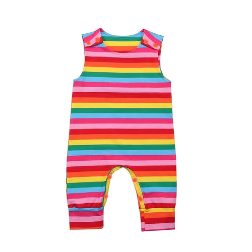 Colourful Striped Baby Romper