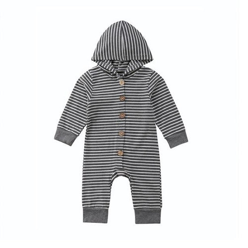 Stripey Hooded Baby Romper