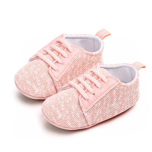 Speckled Pink Baby Trainers