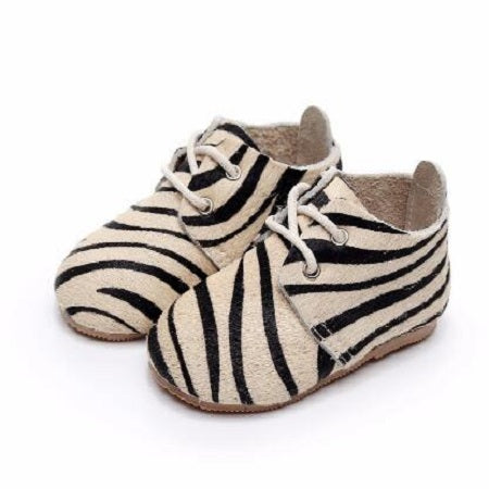 Zebra Skin Design Suede Baby Shoes