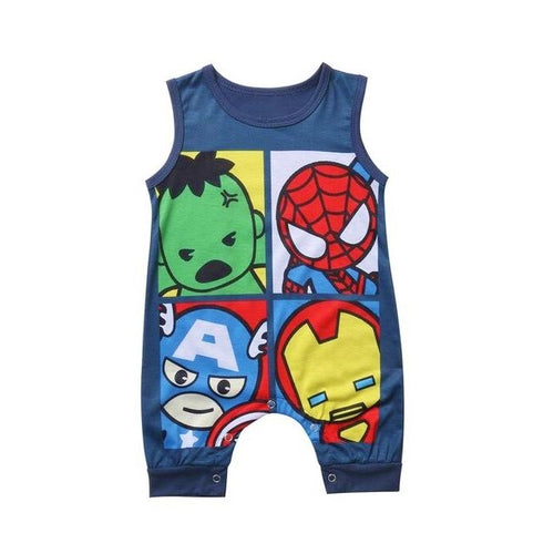 Super Hero's Baby Romper