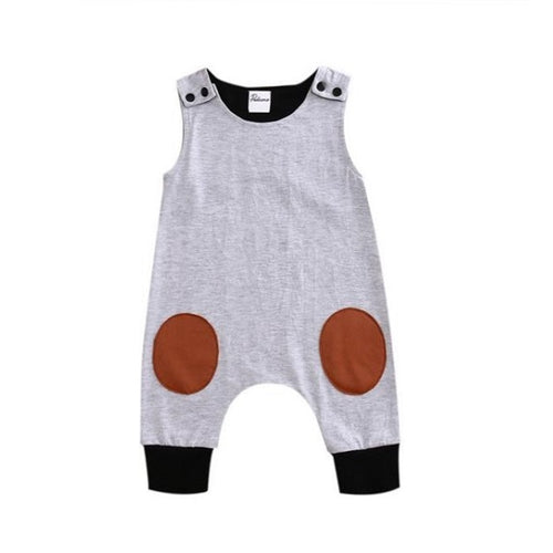 Cute Knee Patches Baby Romper