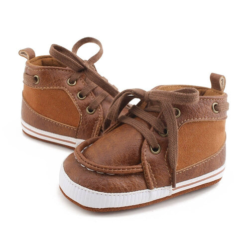Chestnut Tan Leather Baby Boots