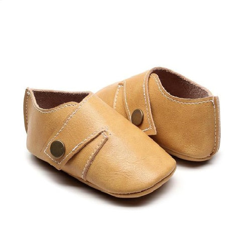 Genuine Leather Single Strap Baby Shoes