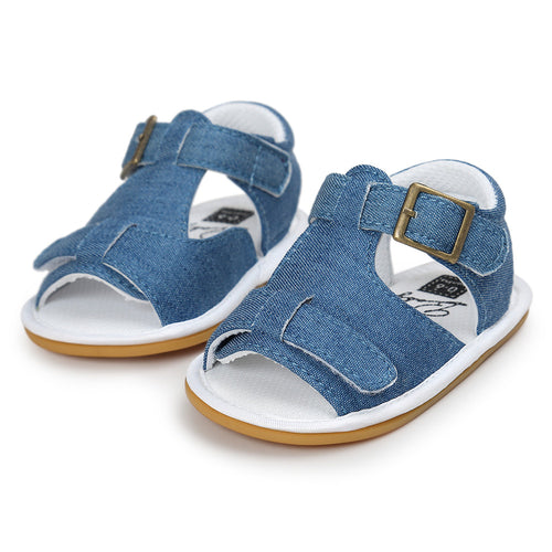 Open Toe Light Denim Baby Sandals