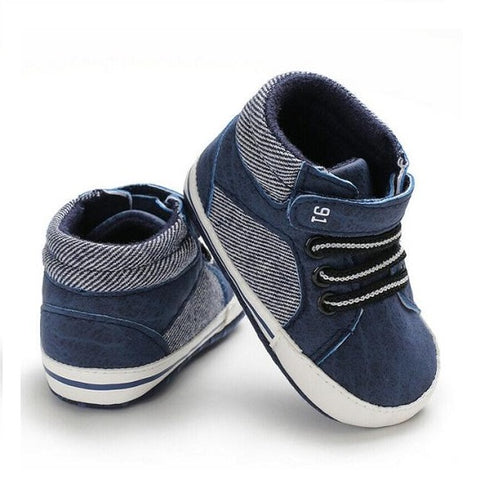 Casual Blue Baby Boots