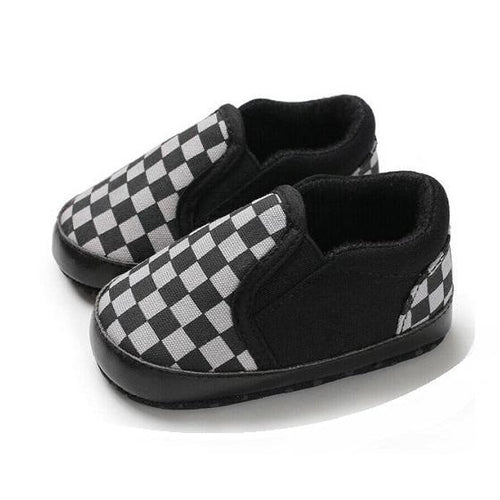Chequered Baby Trainers