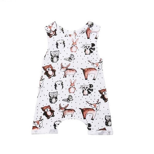 Woodland Friends Baby Romper
