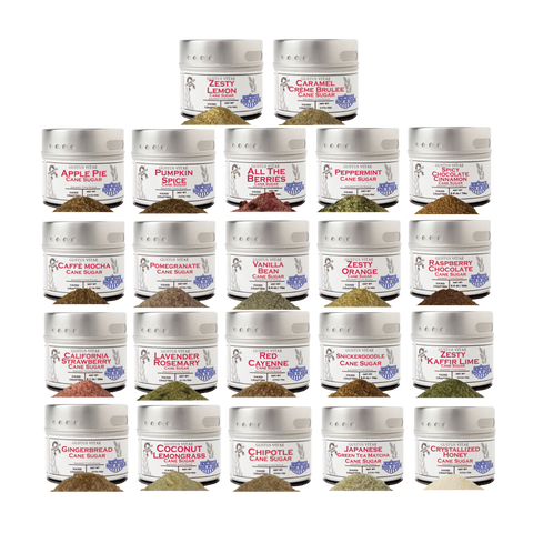 Gourmet Infused Flavored Sugars (Set of 22)