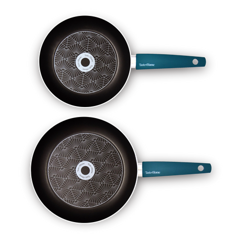 2-Piece Non-Stick Aluminum Skillet Set, 9.5 and 11-inch