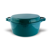 7-Qt Enameled Cast Iron Dutch Oven with Grill Lid