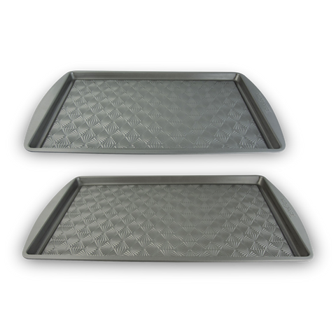 2-Piece Non-Stick Metal Baking Sheet Set, 15 x 10 and 17 x 11-Inch