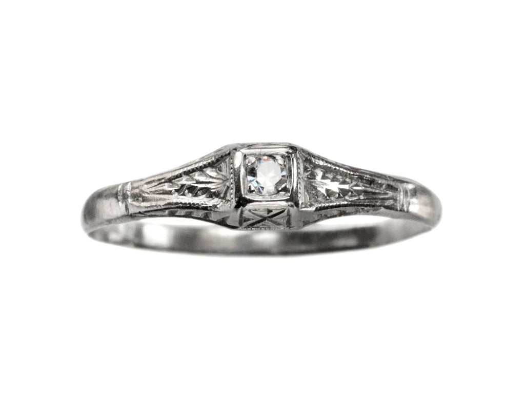 1920s Art Deco 0.02ct Solitaire