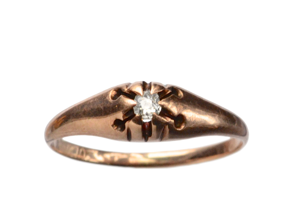 1890s 0.05ct Diamond Ring