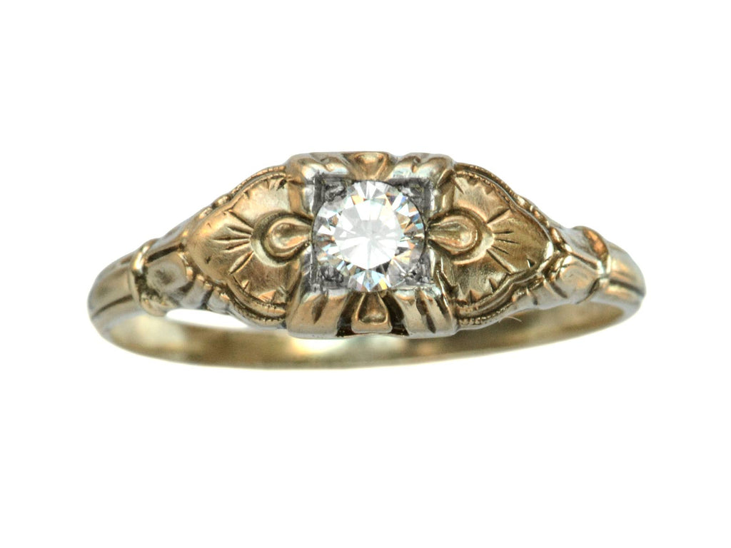 1930s Art Deco 0.16ct Diamond Ring
