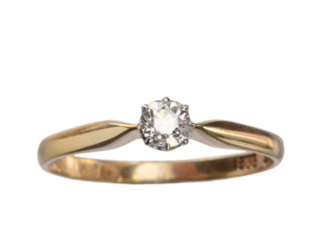 1930s 0.25ct Diamond Engagement Ring Solitaire