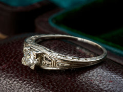 1930s 0.28ct Filigree Ring