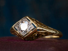 1920s Filigree 0.33ct Diamond Ring