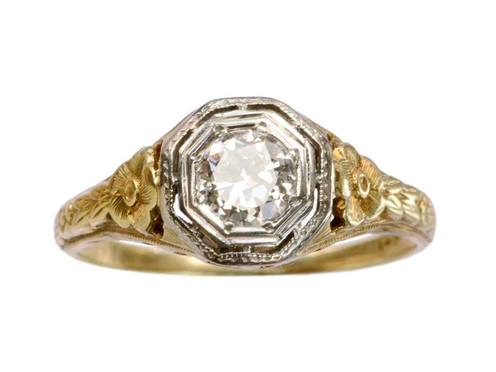 1920s 0.33ct Filigree Ring