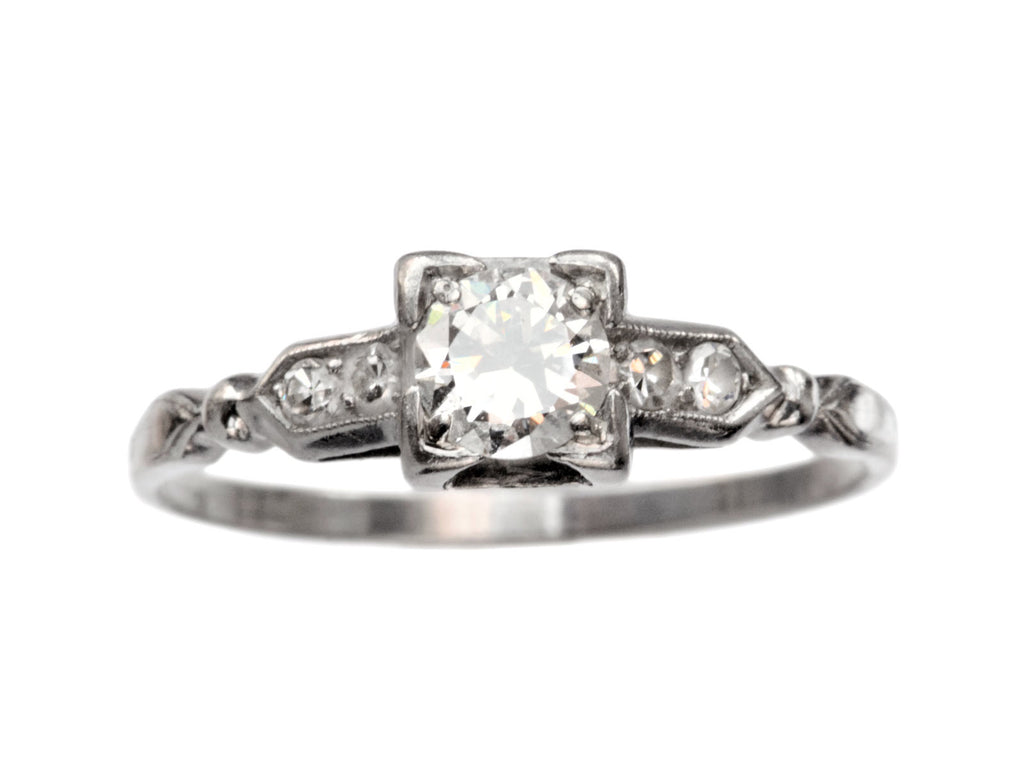 1930s Art Deco 0.33ct Diamond Engagement Ring