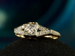 1930s Deco 0.35ct Diamond Ring