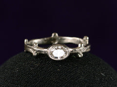1980s Naturalistic Diamond Ring
