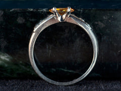 1960s Orange Diamond Ring
