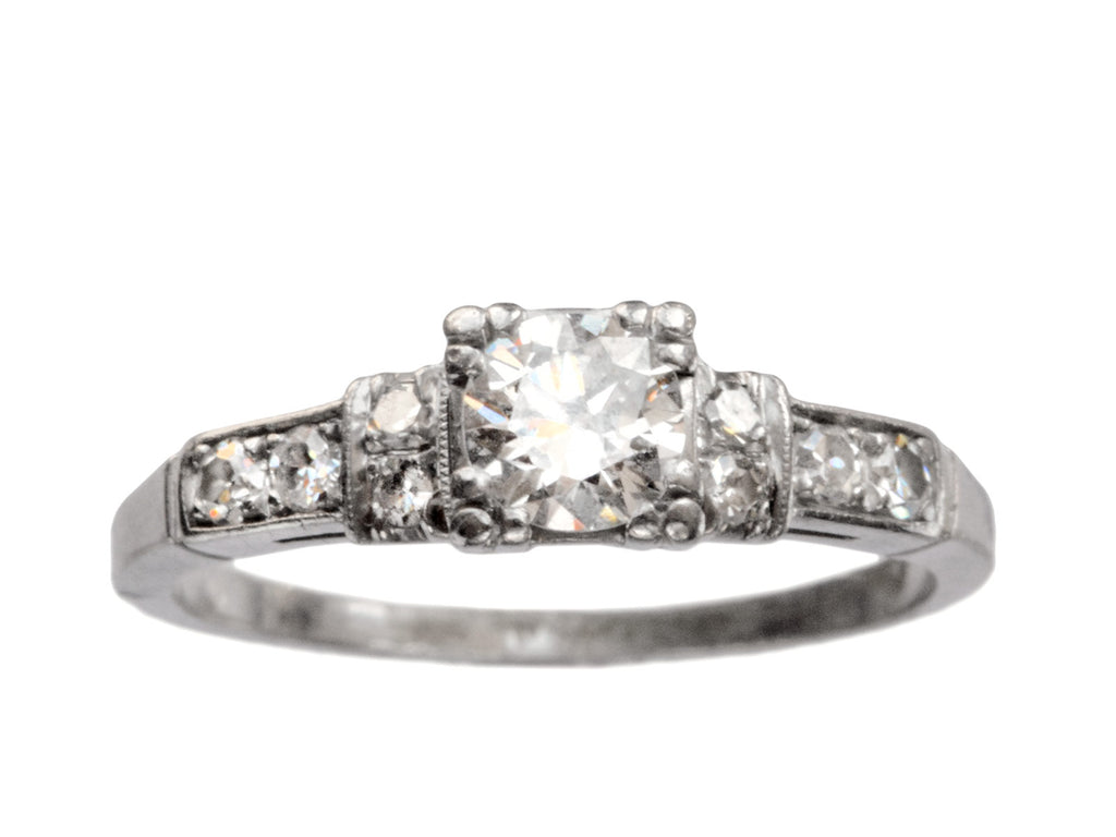 1930-40s Deco 0.42ct Ring