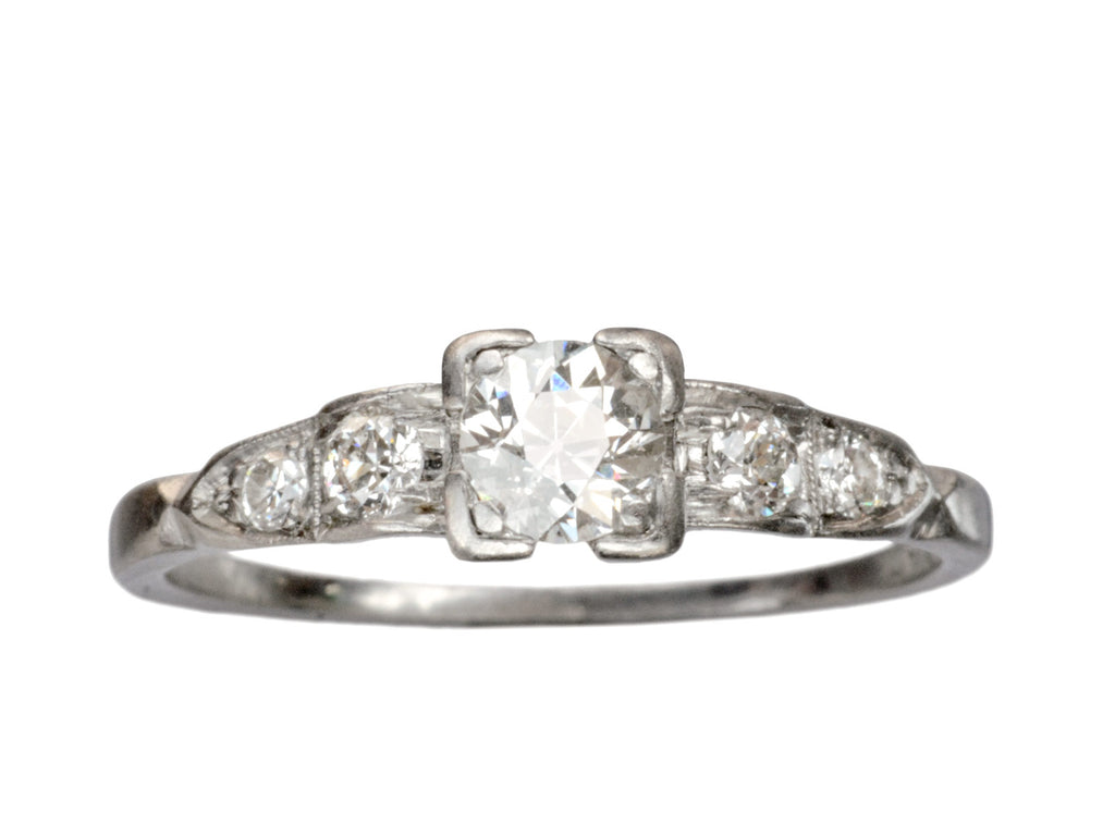 1930s Deco 0.43ct Diamond Engagement Ring