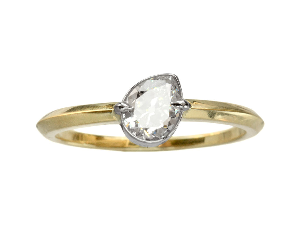 EB Tilted 0.51ct Pear Ring