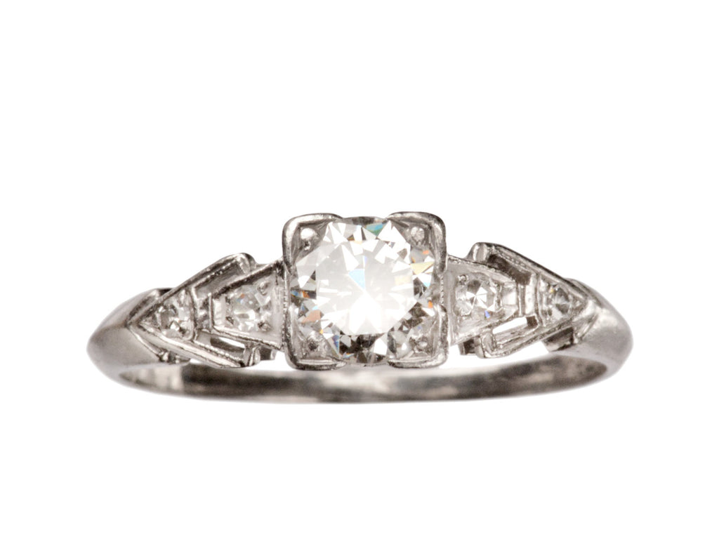 1930s Art Deco 0.51ct Diamond Engagement Ring