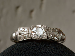 1930s Art Deco 0.52ct Diamond Engagement Ring