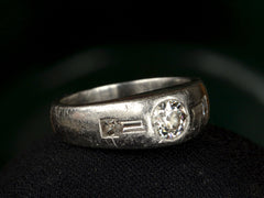 1931 0.54ct Diamond Gypsy Ring