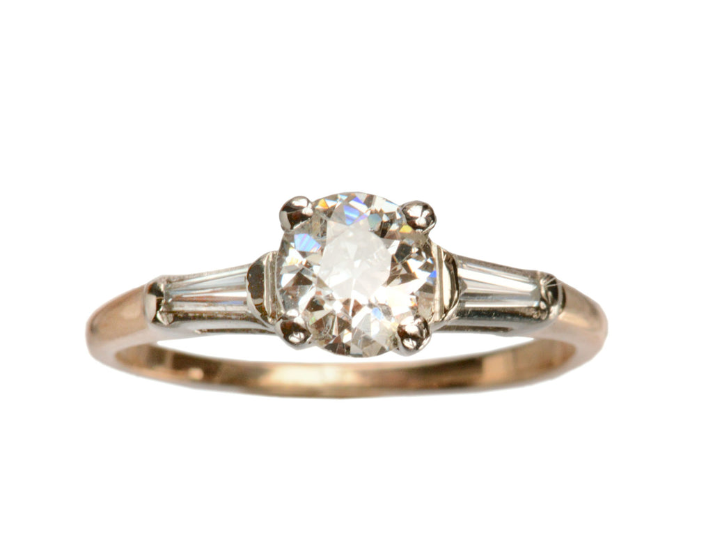 1950s 0.70ct Diamond Engagement Ring, Yellow Gold