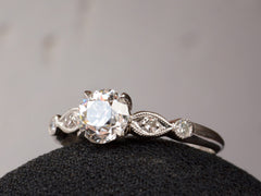 1930s Art Deco 0.70ct Diamond Engagement Ring