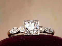 1930s Art Deco 0.71ct Engagement Ring