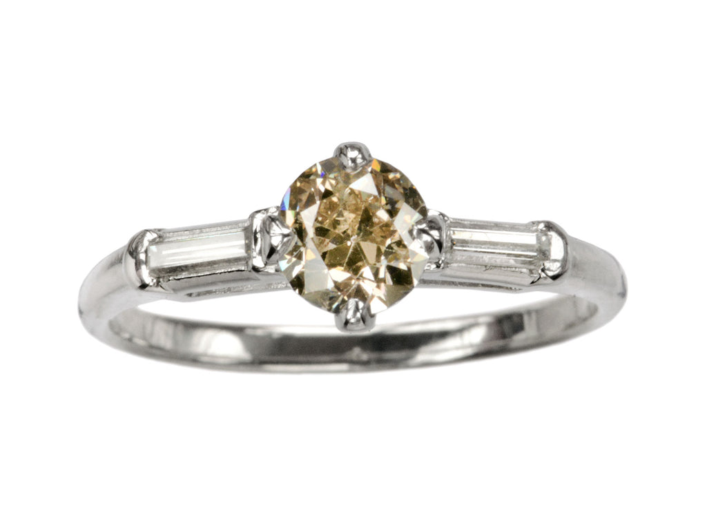 1940s 0.74ct Brown Diamond Ring