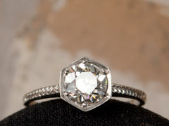 1920s Art Deco Hexagonal 0.83ct Diamond Engagement Ring