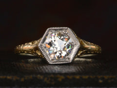 1920s 0.82ct Hexagonal Filigree Ring