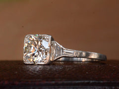 1930s Art Deco 0.90ct Diamond Engagement Ring